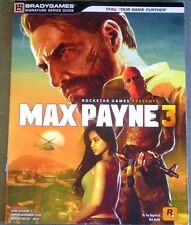 Max Payne 3 Official Strategy Game Guide Bradygames Signature Series PS3, XBOX