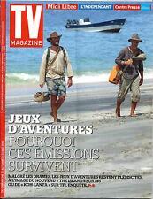 TV MAGAZINE N°22010 17 MAI 2015  JEUX D'AVENTURE/ DEPARDIEU/ PLUS BELLE LA VIE