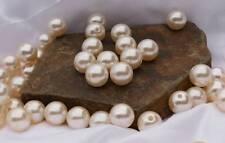100 Perlen perlmutt creme Hochzeit Wachsperlen 16mm mit Loch zum Auffädeln K