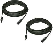 2pcs 60 FEET UL Solar Panel Extension Cable Wire MC4 Connectors 10 AWG  600VDC