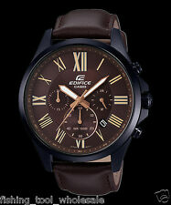 EFV-500BL-1A Brown Men's Watches Casio Edifice Chronograph 100m World time New