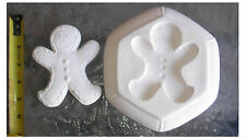 NIce Gingerbread Man  Frit Stained glass fusing   kiln  jewelry  mold