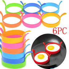 6X Silicone Pancake Fry Egg Ring Frying Fried Egg Round Mold Kitchen Mould Tool