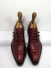 SERGIO ROSSI triple Monk Strap burgundy leather SZ 36 Made in Italy HARD TO FIND