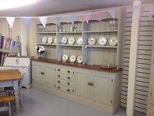 """Huge Unique Vintage Pine Dresser 9'8""""shelves+drawers,Furniture Showroom In Kent"""