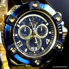 Invicta Reserve Grand Arsenal Octane Gold Plated Blue MOP 63mm Swiss Watch New