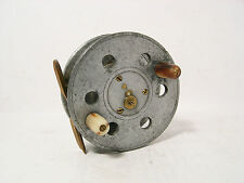 "Vintage Antique David Slater Ideal 4"" Alloy Centrepin Fishing Reel - Stamped"