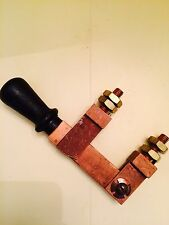 VINTAGE BARKELEW-D 100 AMP 125V DC & AC SQUARE D COPPER KNIFE SWITCH