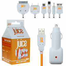 Juice Multi Tip In-Car Charger for iPhone 3/3G/4/4S iPad 1 2 HTC Samsung BB LG