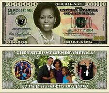 MICHELLE OBAMA BILLET MILLION DOLLAR US ! Collection BARACK 1ère DAME FIRST LADY
