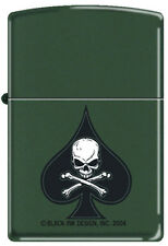 Black Ace of Spade Death Skull ~ Military, Army, Navy, Marine ~ Zippo Lighter