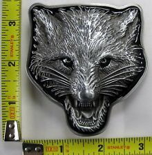 ANIMAL BELT BUCKLE FOX WOLF CAT BRAND NEW FREE S/H B140