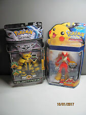 New sealed lot Pokemon deluxe electronic figure Electivire + Blaziken 2007 Jakks