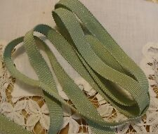 """3/8"""" RAYON GROSGRAIN RIBBON WITH SPARKLE - JAPAN - SAGE GREEN - 2 YARDS/3.00"""