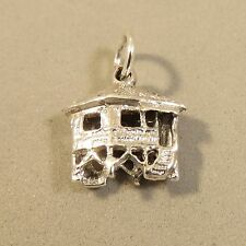 .925 Sterling Silver WATER BUNGALOW CHARM Tahiti Fiji Stilted House 925 TR112