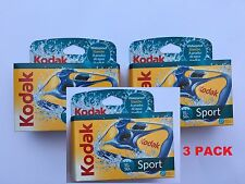 3 X KODAK SPORT UNDERWATER POOL WATERPROOF DISPOSABLE CAMERA  27 EXP SPLASH