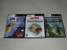PLAYSTATION 2 VIDEO GAME LOT RAPALA PRO FISHING BASS CHALLENGE FISHERMANS CLUB
