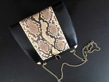 Real Snake Skin Clutch Handbag