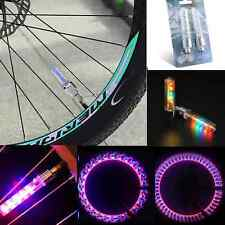 2x 5 LED Flashing Light Bicycle Motorcycle Car Bike Tyre Tire Wheel Valve Lamp N