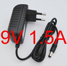 AC Switching power supply DC 9V 1.5A Adapter 1500mA Charger EU plug 5.5mm x 2.1