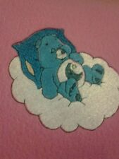 Handmade Personalized Embroidery Fleece baby blanket with Care bear.