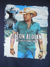 2013 Jason Aldean Night Train Concert Tour Cities T-Shirt Jake Owen Country