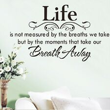 Removable Vinyl Wall Quote Decal Stickers Decor Art Mura DIY Life Breath Away