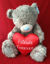 "ME TO YOU BEAR TATTY TEDDY X-LARGE 24"" RED SATIN FRIENDS FOREVER HEART BEAR"