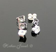 STERLING SILVER PLATED EARRING STUD REPLACEMENT BACK STOPPERS BUTTERFLY EARNUTS
