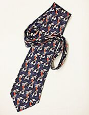 NOVELTY CARTOON TIE 'MARKS & SPENCER'  BUGS BUNNY PLAYING GOLF NAVY BACKGROUND