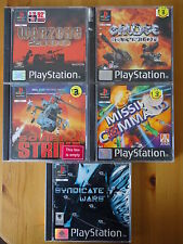 5 COMBAT GAMES PS1 PS2 PS3 War/Missile/Strike/Warriors *Manuals Included*