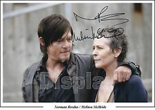 The Walking Dead, Norman Reedus, Melissa McBride Signed Photo,  Daryl PP