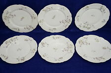 """H & Co Haviland Schleiger 443-C Lot of (6) Luncheon Plates 8 5/8"""""""