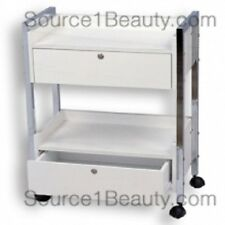 Rolling Wooden Beauty Cart with 2 Drawers for Spa Salon Treatments -  Brand New