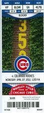 2011 Cubs vs Rockies Ticket: Aramis Ramirez, Carlos Pena 2 HRs each