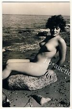 #55 RÖSSLER AKTFOTO 14 x 9 NUDE WOMAN STUDY * Vintage 50s Outdoors Real Photo PC