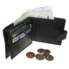 Mens Cheap Soft High Quality Luxury Black Leather Wallet Credit Card Holder 143