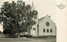Vintage Postcard; Methodist Church, Junction City, Kansas, KS Geary County