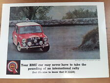 BMC Mini Cooper Monte Carlo Rally Winner c1964 Vintage Ad Gallery No 53 Postcard