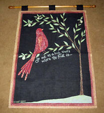 Go Out On A Limb, That's Where The Fruit Is Tapestry Wall Hanging ~ Cindy Shamp