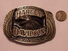 HARLEY DAVIDSON BELT BUCKLE BY THE PEOPLE FOR THE PEOPLE 1991 BARON USA