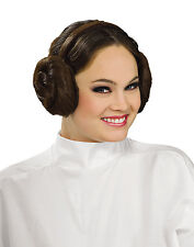 Star wars Princess Leia Hairdo Brown Bun Hair Headband  Adult Size