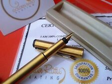 24Ct Gold Plated Parker Vector Fountain Writing Pen Gift Boxed - Blue Ink