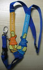 Athens 2004 Olympic Games Mascot Lanyard orange blue