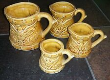 Measuring Cup Set Of 4 With American  Eagle Motif From Japan Vintage Gold Stars
