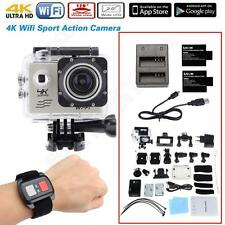 Full HD 4K SJ8000 WiFi Sports Action Camera Sliver w/Remote+Battery Charger Kits