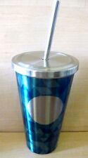 Starbucks 2014 Dot Collection Jade Mosaic Cold Cup Tumbler with straw/16 oz