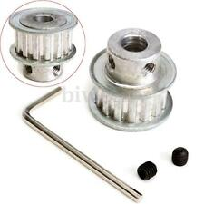 XL15T Aluminum Timing Belt Pulley Wheel+ 2XScrews+ Wrench Bore For Stepper Motor