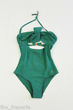 *NINA RICCI* VINTAGE STYLE PIN UP SWIMSUIT - GREEN - UK 8/10