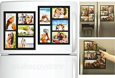Family Collage Picture Frames Home Decor Magnetic Photo Display Refrigerator Art